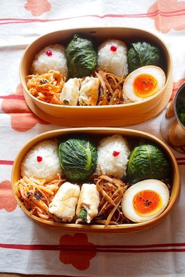 Japanese Takana Leaf Rice Ball Bento 青高菜おむすび弁当