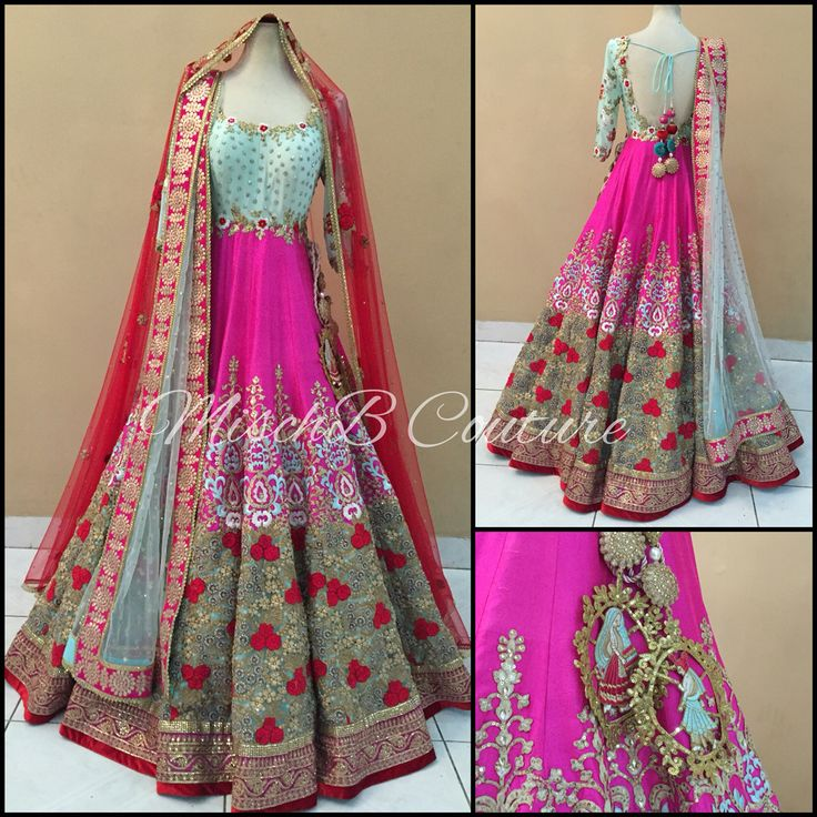 Wow Vows bridal anarkali by MischB Couture
