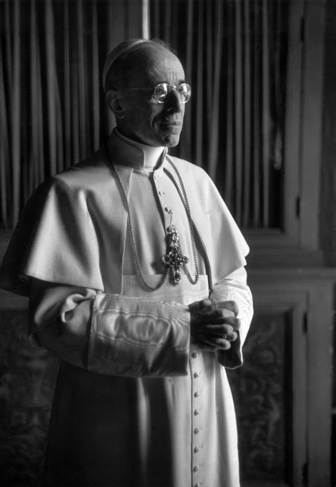 Pope Pius XII, who was on the papal throne during WWII.
