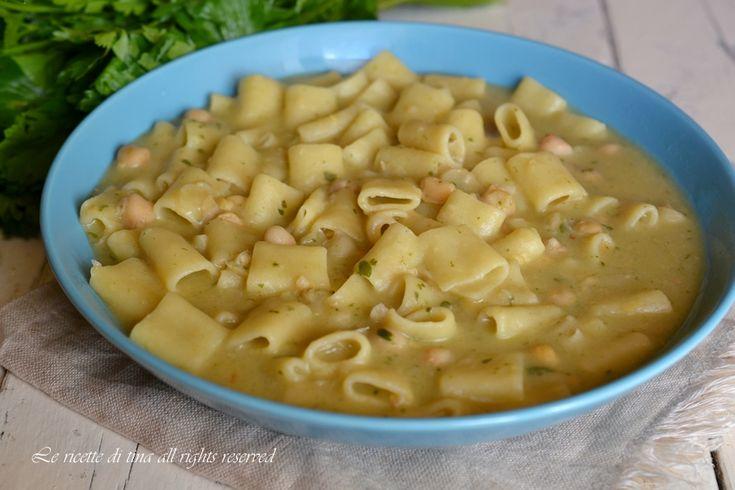 Pasta e ceci bimby un primo piatto veloce,cremoso e saporito
