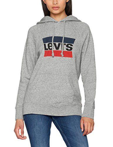 503670308a8 LEVI  S Levi s Hooded Sweatshirt Woman 35946-0000 Gray XL Grigio ...