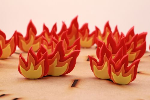 Fire Cupcake Toppers Fondant