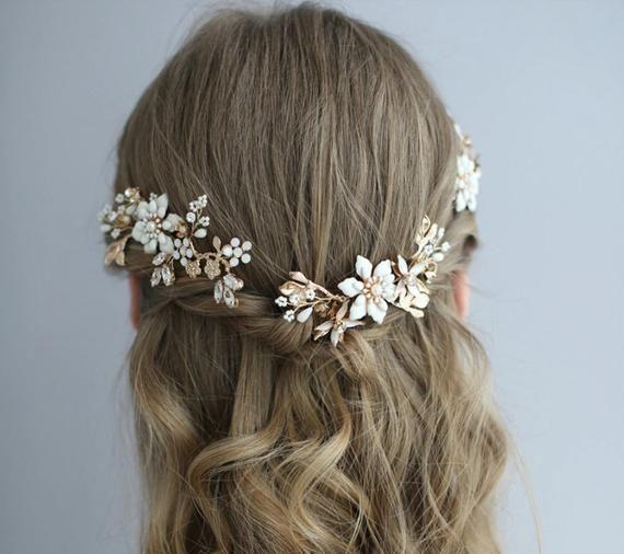 Bridal Headpiece Bride Bride Hairpiece Wedding Hair Piece Bridal Haircomb Bridal Hair Accessories Bridal Hair Piece Bridal Hair Comb