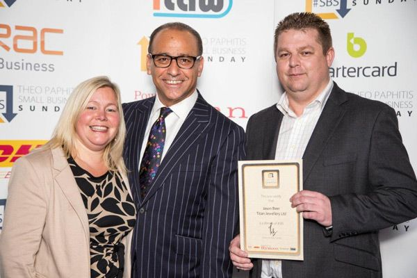 Meeting Theo Paphitis at #SBS Winners Event