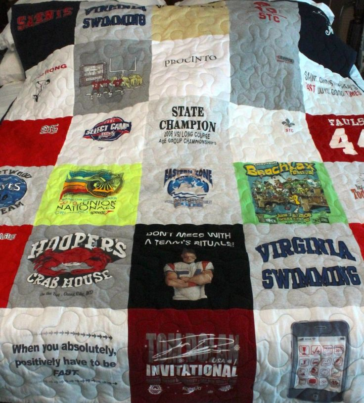 t-shirt quilt for the man in your life © The Gracious Posse