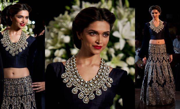 Deepika padukone in a gorgeous lehanga. Indian wear