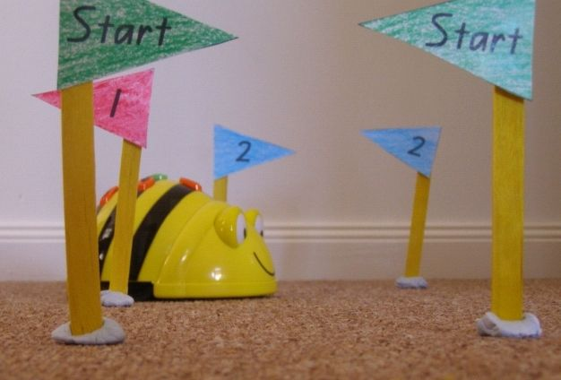 My bee bot robot that teaches coding basics and much more. Use after reading a book and then have the children program the bee bot to the correct answers.