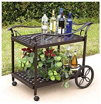 outdoor tea carts with wheels