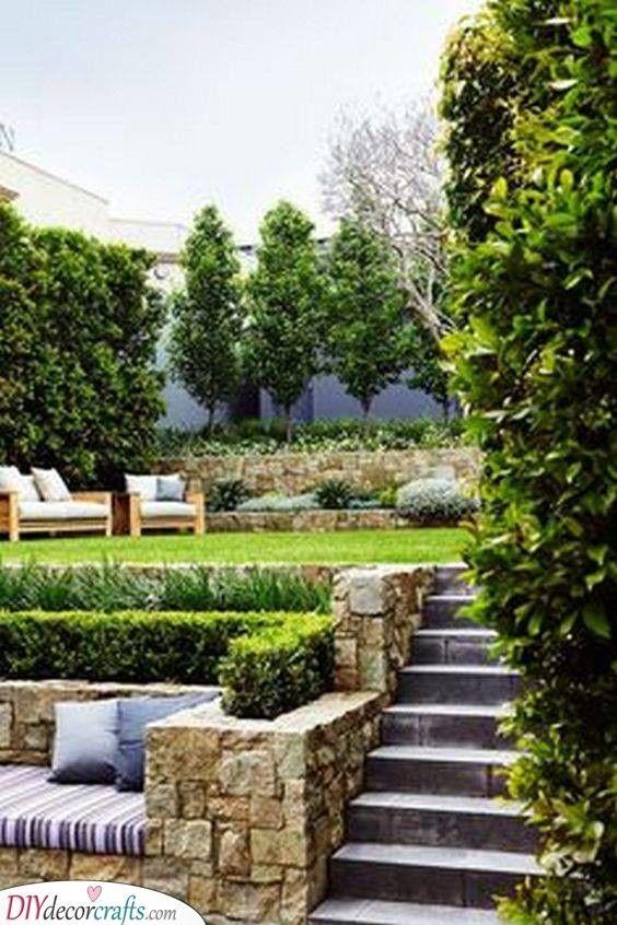 25 BEAUTIFUL BACKYARD LANDSCAPING IDEAS - Backyard Ideas ... on Small Sloped Backyard Ideas On A Budget id=42559
