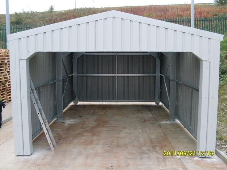 Residential Open Fronted Steel Storage Building / Car Pot