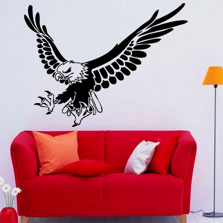 DCTOP Popüler Hayvan Duvar Çıkartmaları Kartal Uçan Çıkarılabilir Vinil Sanat Duvar Çıkartmaları Ev Dekor Kendinden Yapışkanlı Oturma Odası Için | 32686207829_th