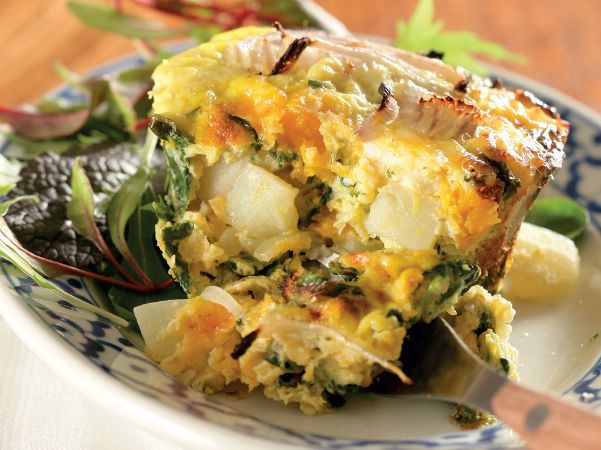Spinach and feta cheese frittata | Yummy I've got love in my tummy ...