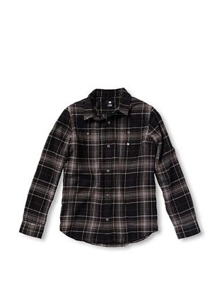 68% OFF DC Boy's 2-7 Kingsmen Button-Up (Pewter Plaid)