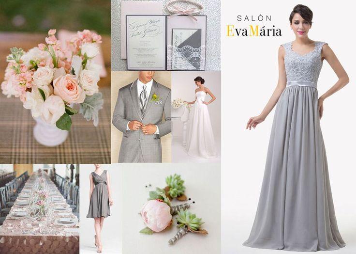 Družičky v sivom - sivé družičkovské šaty