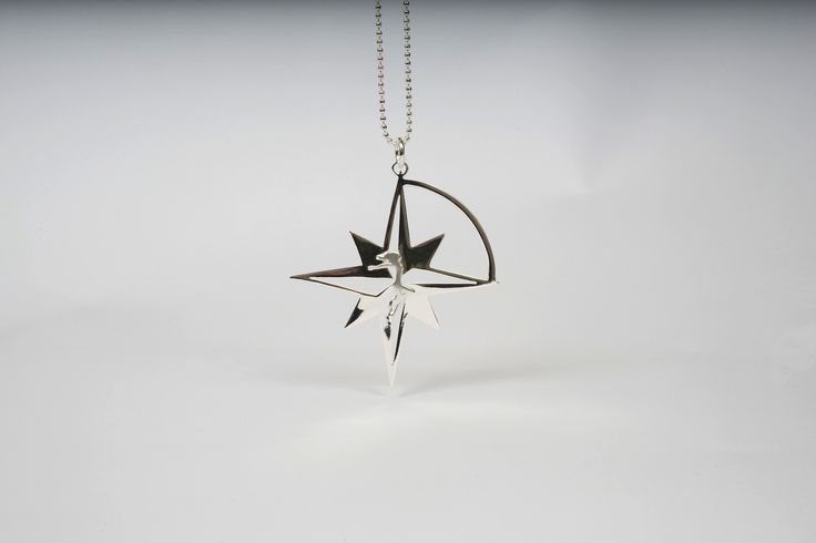Compass Star in Silver plated Bronze by THE BRITELINE