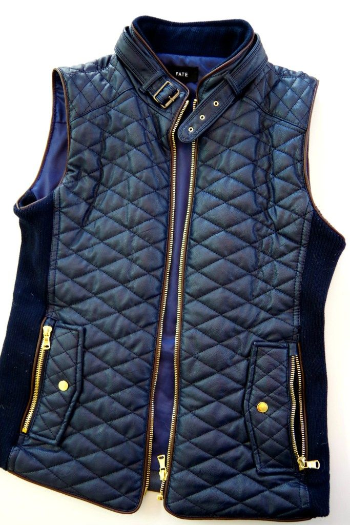 Ooo la la... I would love to give this Fate Rowen Faux Leather Quilted Vest from Stitch Fix a try!