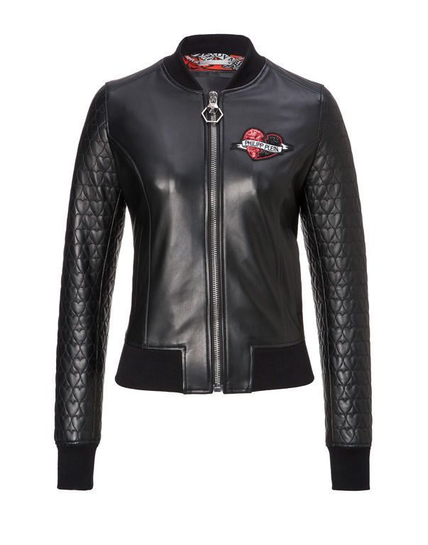 """Leather Bomber """"Heart"""" - $1998"""