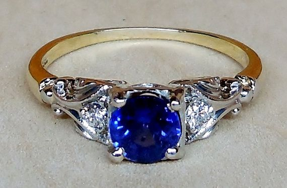 Vintage Antique JABEL .96ct Blue Sapphire by DiamondAddiction