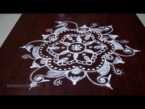 easy free hand rangoli designs free hand simple rangoli new free hand rangoli images - YouTube