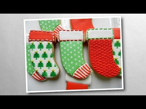 Flour Box Bakery — Day 7 of Cookie Videos: How to Decorate a Stocking Cookie