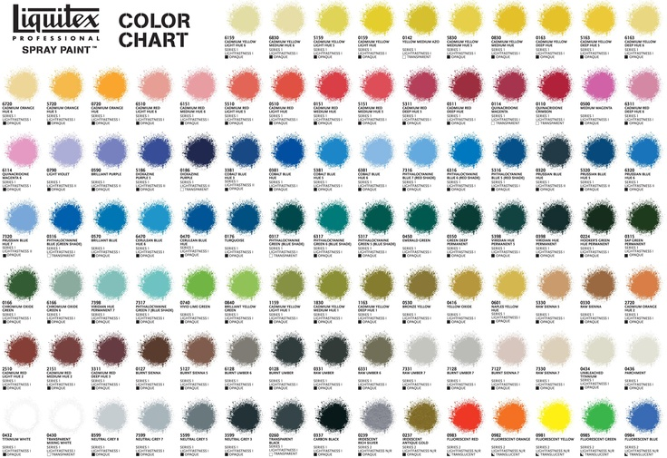 100 vibrant colours available in liquitex professional spray paints  view the colour chart here