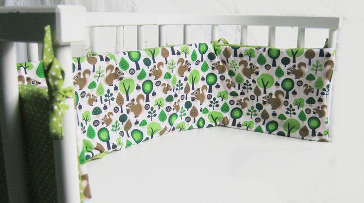 Nestchen Eichhörnchen für Babybett, Beistellbett von Filzekater auf DaWanda.com