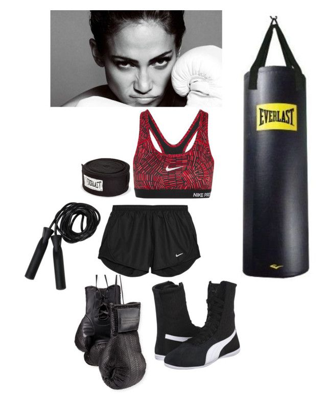"""FEMALE BOXING"" by neverseethelight on Polyvore featuring Elisabeth Weinstock, Jennifer Lopez, NIKE, Puma, Everlast, women's clothing, women, female, woman and misses"