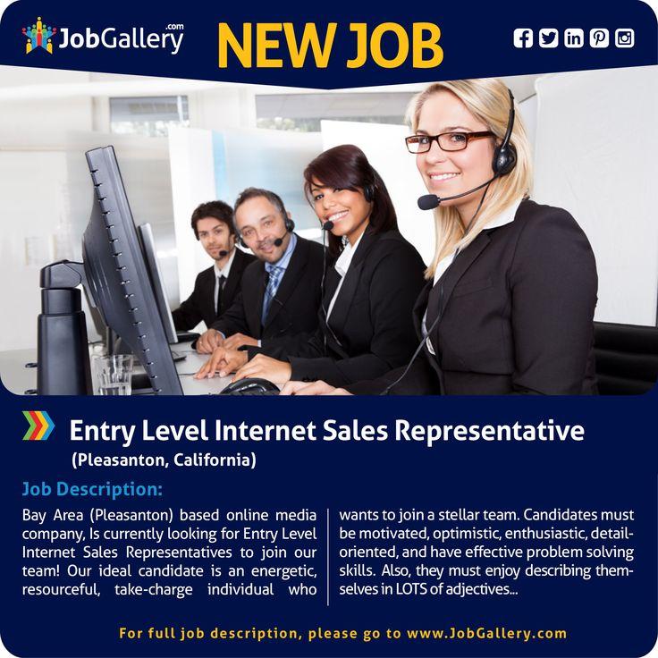 SEEKING AN INTERNET SALES REPRESENTATIVE - PLEASANTON, CA #jobs - sales rep job description