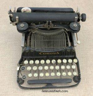 Vintage Junk Treasures #30 & A Folding Typewriter - Deanie's Stash