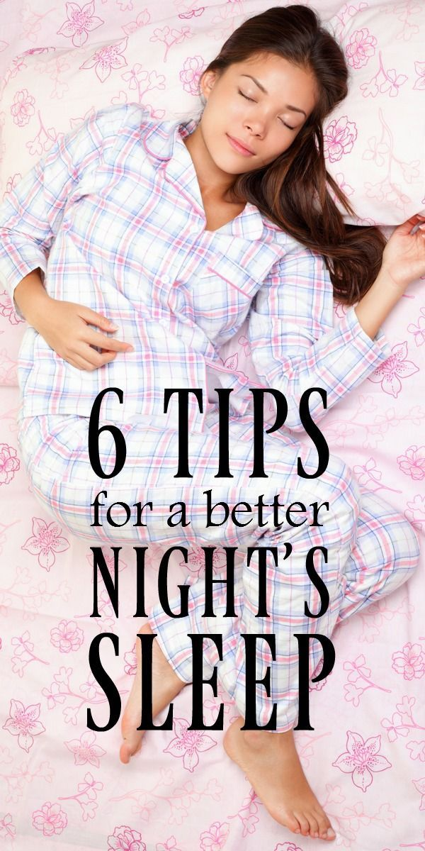 6 Tips for a Better Night's Sleep | Easy ways to make falling asleep easier and wake up refreshed. Includes ideas for when to exercise, how to adjust your body clock and more. #Sponsored