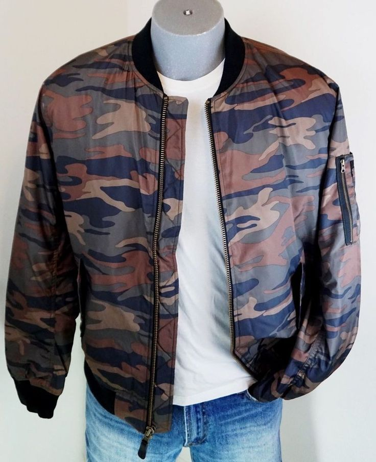 New $89.95 American Eagle Men's Military Camo Quilted Bomber Jacket M, L AEO NWT #AmericanEagleOutfitters #FlightBomber