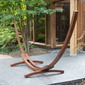 Algoma 15ft Russian Pine Wood Arc Hammock Stand - Hammock Stands & Accessories at Hayneedle