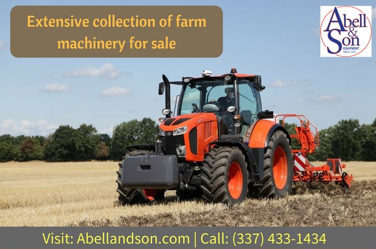 Abellandson have a large inventory of used Agriculture and farm equipment for sale, like farm tractors, attachments, loaders and mowers. For more info call: (337) 433-1434