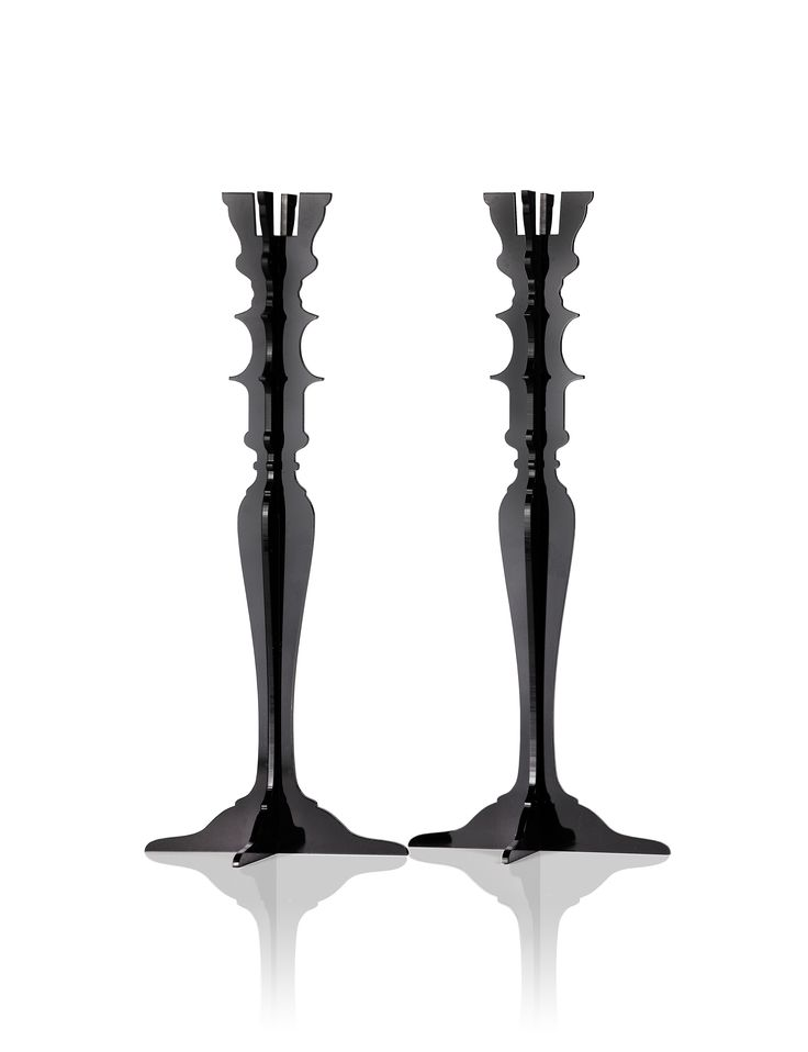"""Bougeoir"" candeliere nero"