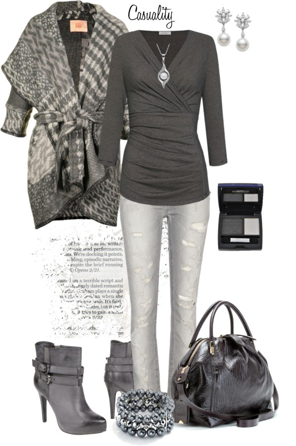 Shades of Grey by casuality on Polyvore~Oooh! I love this!
