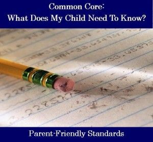 Parent-Friendly PRINTABLE Common Core Standards by each grade level. Perfect to print and send home at the beginning of the year to show what well be doing all year!