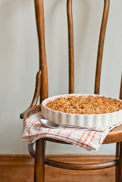 Rhubarb and Apple Crumble  Just out of the oven by sarka b, via Flickr