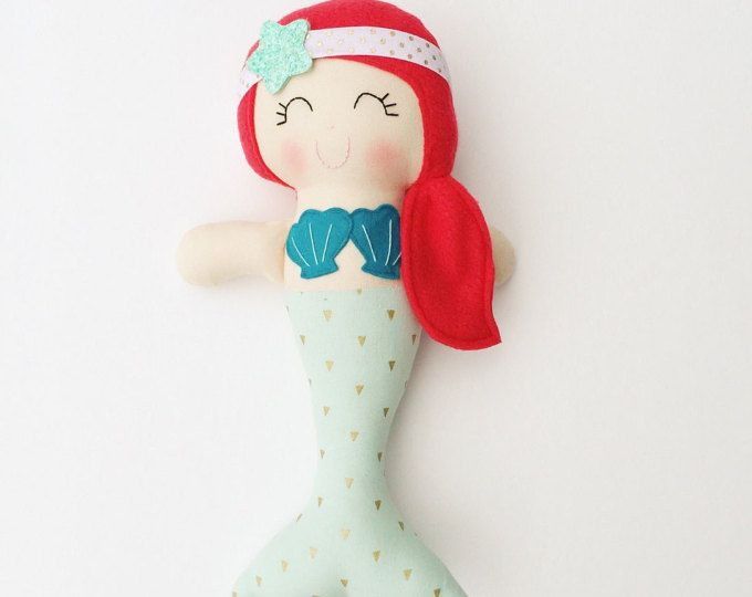 Chicas de Mermaid muñeca - tela - muñeca hecha a mano - muñeca de trapo modernas - habitación a sirena - juguetes niñas - de decoración - decoración infantil