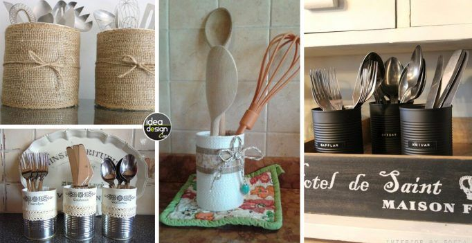 DIY cutlery tray with tin cans! Here are 20 creative ideas…