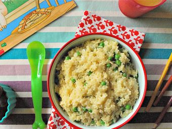Pastina with Peas and Parmesan- Pasta and Peas, my boys would love this!