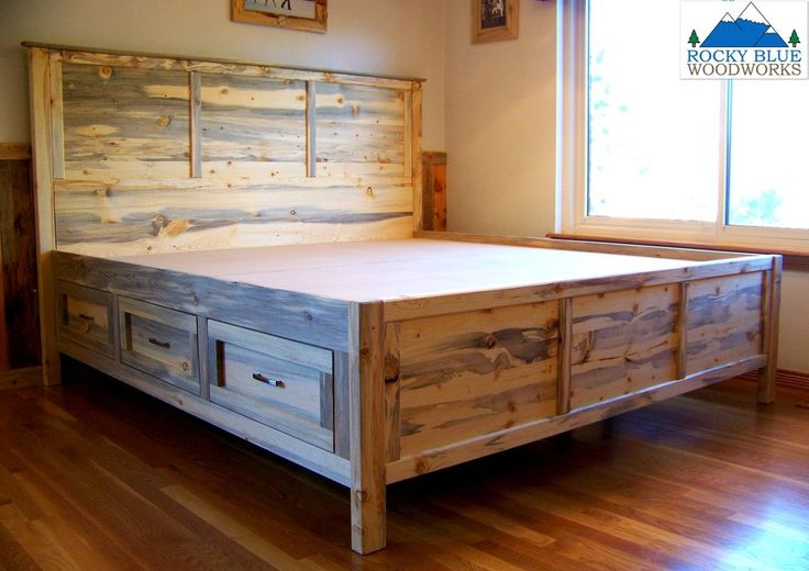 Beetle Kill Pine Platform Bed - by RockyBlue @ LumberJocks.com ~ woodworking community