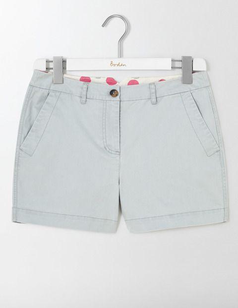 "Rachel Chino Shorts 6"" inside leg? Pebble or Santorini Blue"