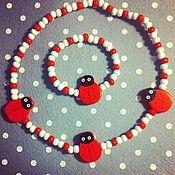 Украшения ручной работы. Ярмарка Мастеров - ручная работа Детский браслет, детские бусы, набор бижутерии для девочки. Handmade.