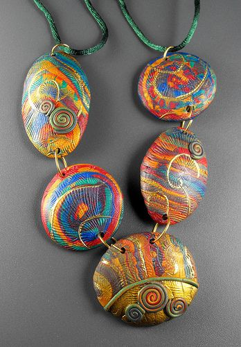 Margit Bohmer - Polymer clay    I love her colourful beads!