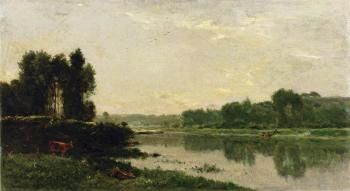 The Banks of the River Charles François Daubigny - 1868