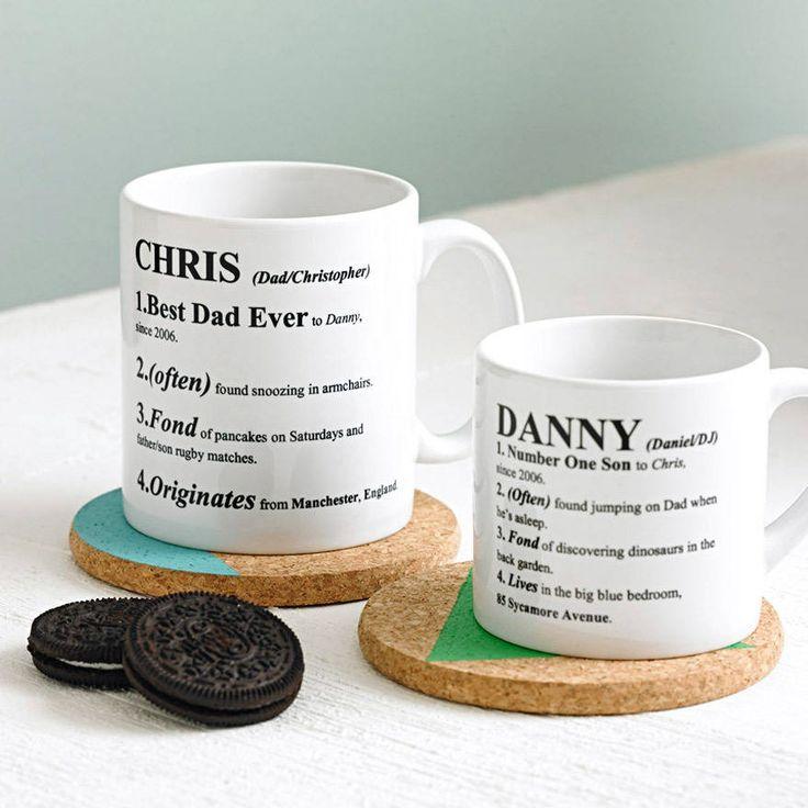 personalised definition mug by 3 blonde bears   notonthehighstreet.com