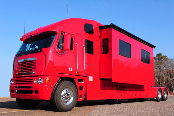 Red Semi Truck Motorhome Red Vehicles Pinterest