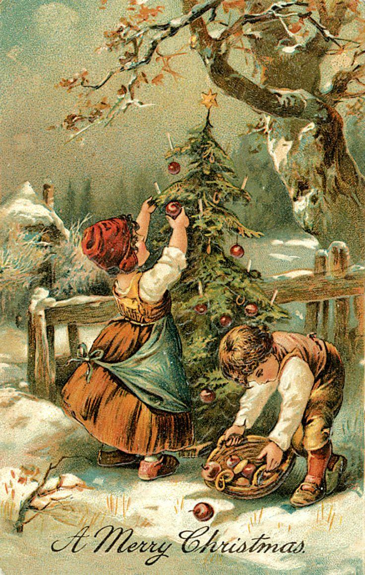 первом винтажные открытки новый год рождество без перьев это