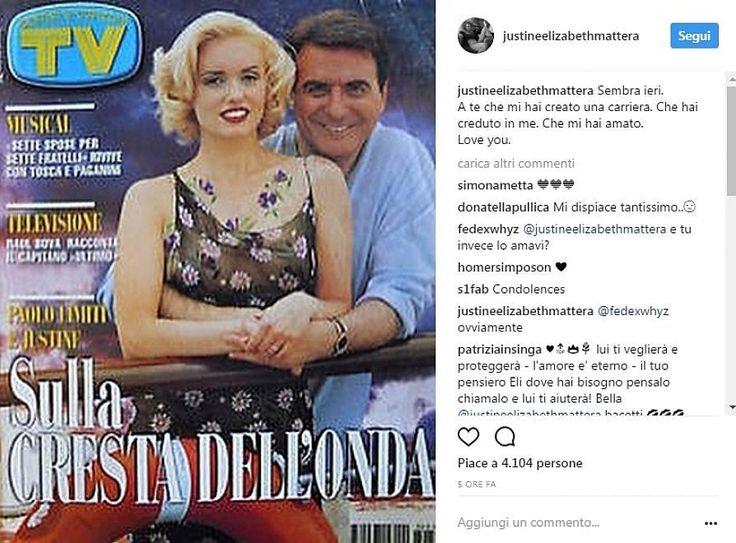 """Paolo Limiti, il ricordo dell'ex moglie Justine Mattera su Instagram: """"A te che hai creato la mia carriera"""""""