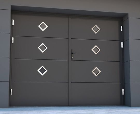 Don't have the headroom for a sectional/up and over garage door? Why not go for a side hinged for easy function. All our garage doors are bespoke.